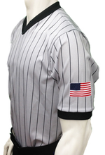Smitty Grey Referee Shirt with Dye Sublimated Flag