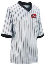 Iowa IHSAA Embroidered Ultra Mesh Grey Pinstripe Shirt