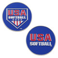 USA Softball Umpire Flipping Coins