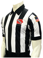 "Smitty Embroidered Iowa IHSAA 2 1/4"" Stripe Elite Football Referee Shirt"