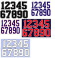 Numbers for Shirts-Jackets