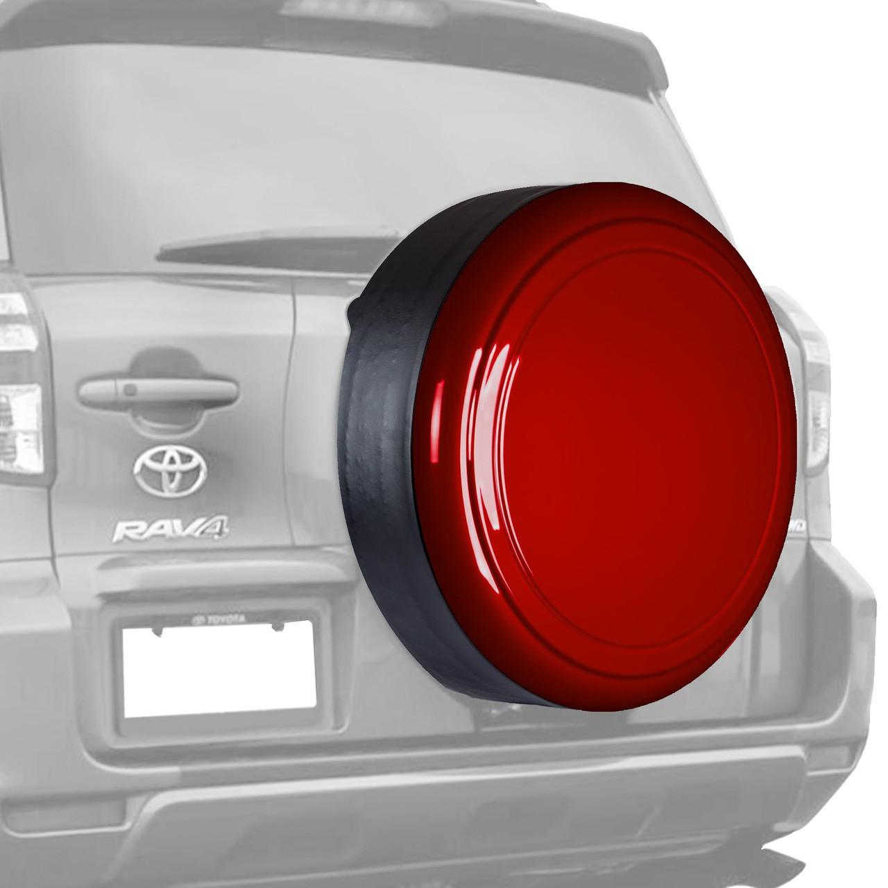 Color matched rigid tire cover toyota rav4 2006 2012