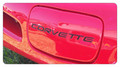 FRONT BUMPER LETTER INSERTS (Red Black or Chrome)