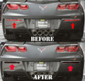 C7 2014-15 Corvette  Rear Bumper Lower Cover Reflector Blackouts 2pc