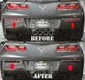 C7 2014-15 Corvette  Rear Bumper Lower Cover Reflector Blackouts 2pc