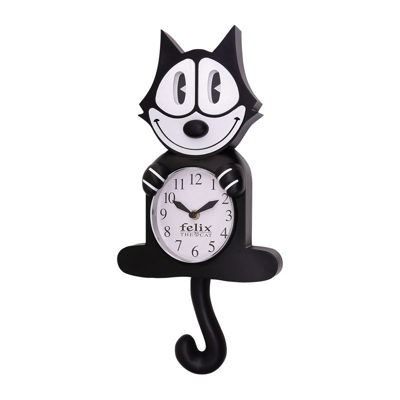Cat Wall Clock With Moving Eyes And Tail