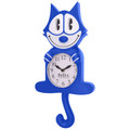 Blue Felix the Cat 3-D Motion Clock