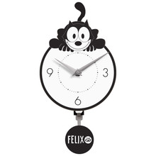 Crouching Felix Mini Wall Clock