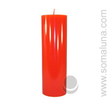 Romance Red 9.5 x 3 Pillar Candle