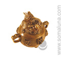 Brass Dragon Incense Burner