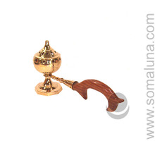 Small Brass Arabic Incense Burner with Handle