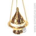Brass & Mother Of Pearl Hanging Incense Burner