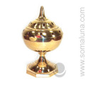 Brass Arabic Incense Burner with Lid