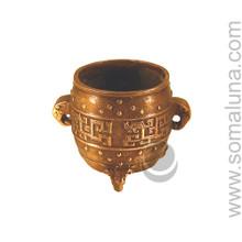 Small Asian Brass Pot Incense Burner