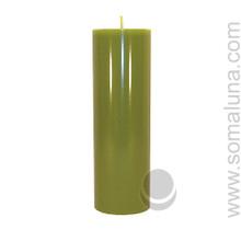 Springtime Green 9.5 x 3 Pillar Candle