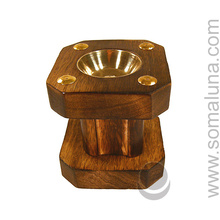 Wooden Pillar Incense Burner
