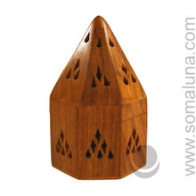 Shamanic Lodge Wooden Incense Burner