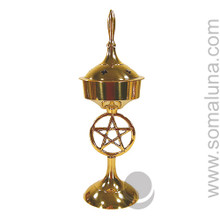 Brass Pentacle Incense Burner