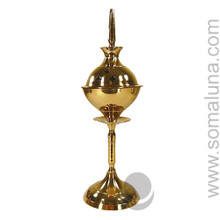 Brass Temple Incense Burner