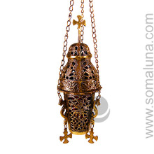 Brass Hanging Church Charcoal Burner