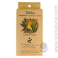 Triloka Natural Herbal Incense Cones, Lemon Grass