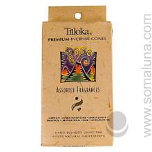 Triloka Natural Herbal Incense Cones, Assorted 1