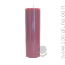 Country Mauve 9.5 x 3 Pillar Candle