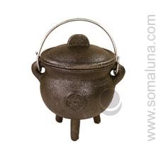 Quality Iron Pentacle Cauldron, 4.5 inch
