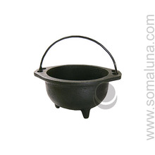 Rough Cast Iron Cauldron, medium