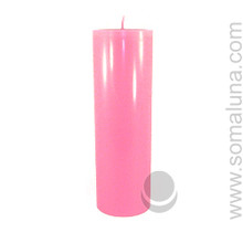 Lotus Pink 9.5 x 3 Pillar Candle