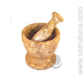 Coral Marble Mortar and Pestle
