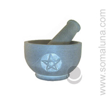 Gray Stone Pentacle Mortar & Pestle