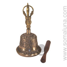 Seven Metal Tibetan Bell, 8.75 inch