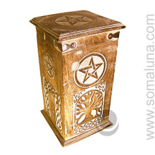 Pentacle & Tree of Life Herb Chest