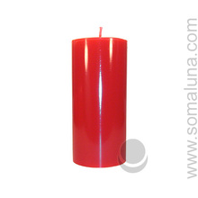 Romance Red 6.5 x 3 Pillar Candle