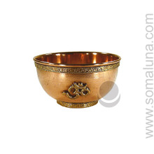 Om Copper Offering Bowl