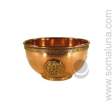 Pentacle Copper Offering Bowl