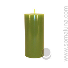 Springtime Green 6.5 x 3 Pillar Candle