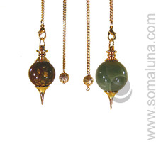 Brass and Gemstone Pendulum