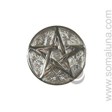 Silver Pentacle Altar Tile, Small