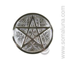 Silver Pentacle Altar Tile, Large