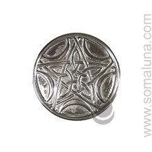 Silver Pentacle Moon Altar Tile, small