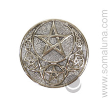 Six Pentacle Altar Paten, large