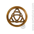 Wood Wall Triquetra, large