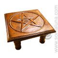 Pentacle Carved Altar Table, large