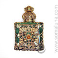 Dark Green Perfume Bottle