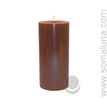 Brown 6.5 x 3 Pillar Candle