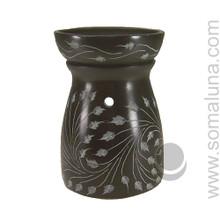 Black Leaf Soapstone Aroma Lamp