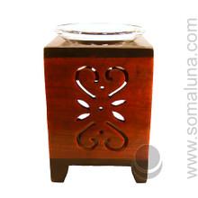 Scrollwork Stone Aroma Lamp