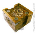 Carved Pentacle Coaster Set